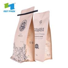 Bolsas de café de encargo del papel de aluminio del escudete inferior plano