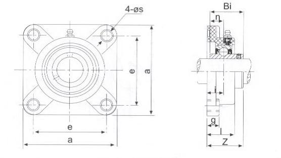 Stainless Steel Bearings TP-SUCF200 Series
