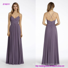 Chiffon A-Line Bridesmaid Dress with Draped Bodice