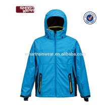 2018 enfants vêtements en gros bleu ski snowboard veste enfants