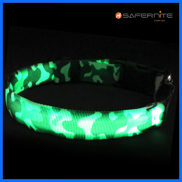 Usb Recarregável Led Light Up Dog Collar
