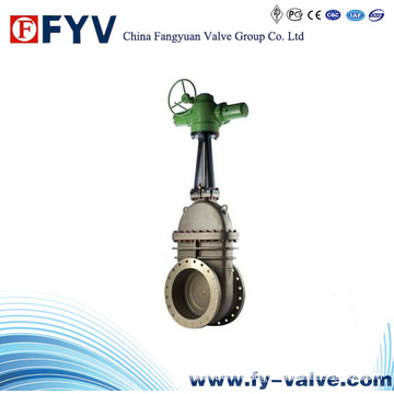Cast Steel Slab Gate Valve (Electric Actuator)
