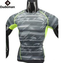 2017 lastest compression shirt High Quality fitness clothes Wholesale Custom Design Sublimation uniform