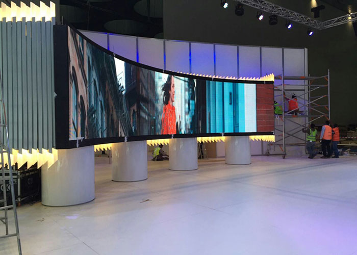 indoor curved led display
