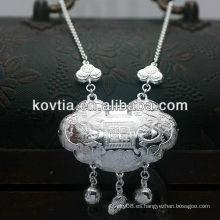 Collar de la plata esterlina del lujo 925 para el bebé