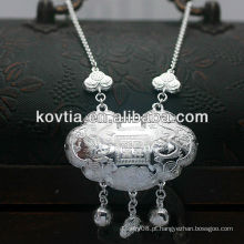 Colar de prata esterlina de luxo 925 para o bebê