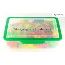 Brinquedos plásticos por atacado coloridos das tubulações para o educatinal do IQ dos miúdos