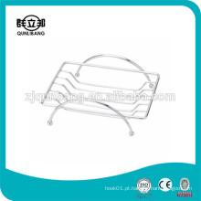 Suporte de sabão quadrado de arame metálico da fábrica de Zhejiang