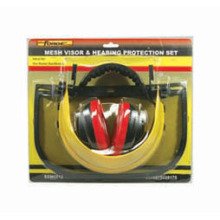 Labor Accessories Mesh Visor & Ear Muff Set Handyman Protection