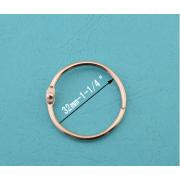 Anéis de cortina de chuveiro prata 32MM