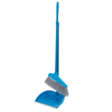 26*25*82cm China Supplier Blue Long Handle Dustpan And Broom Set