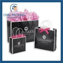Luxury Black Printing Jewelry Gift Bag (DM-GPBB-149)
