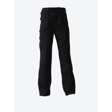 Calças de trabalho preto peso leve algodão