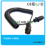 7 core 12V N trailer electrical coil with plastic plugs