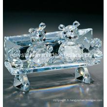 Souris en cristal pour cadeaux de vacances (JD-CT005) en Chine