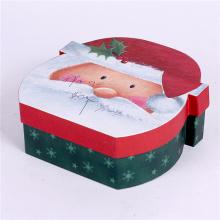 Caixa de presente de papel de cartão de Natal decorativo Papai Noel