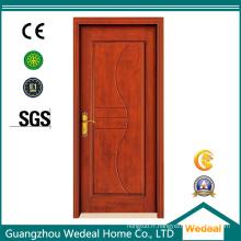 Panneau de porte en bois moulé de placage de chêne rouge HDF pour le projet