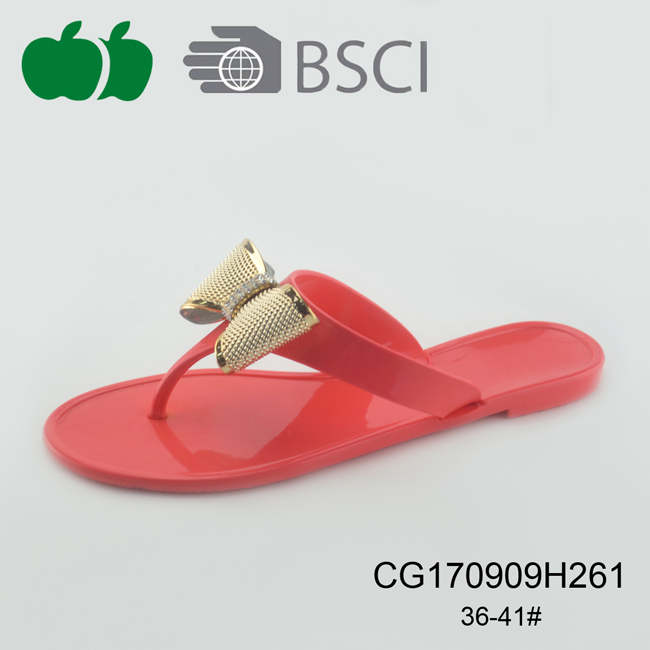 women jelly pvc slippers