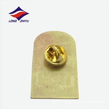 Meaning beautiful gold rectangle shape lapel badge