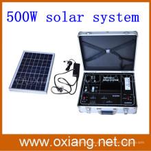 Gerador solar portátil da mala de viagem quente da pasta da venda 500w 2015