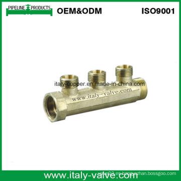 Certified Brass forjado de dos vías Manifold (AV9061)