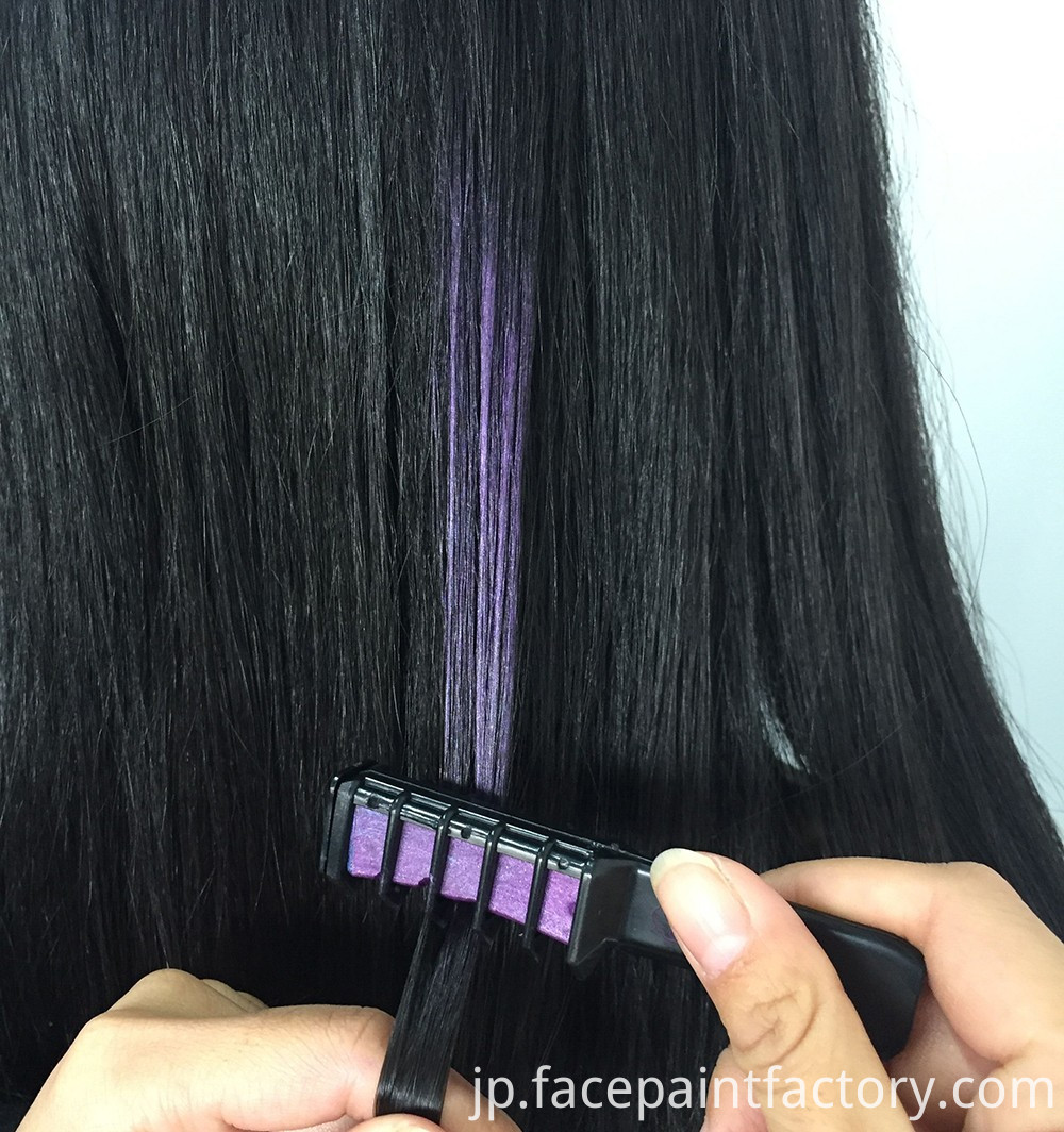 how to use hair chalk comb