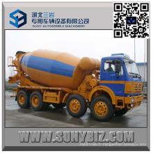 Camion de mélangeur de béton de 12 Wheeler North Benz 10000 litres