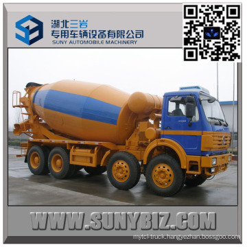 12 Wheeler North Benz 10000 Litre Concrete Mixer Truck