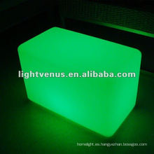 Material PE Color RGB que cambia taburete LED intermitente