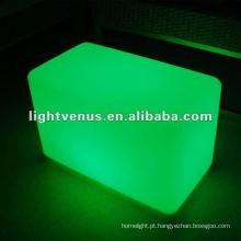 Tamborete de piscamento em mudança do diodo emissor de luz da cor do RGB do material do PE