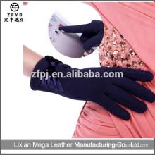 Las mujeres vendedoras calientes del invierno del color de la marina de guerra guantes del paño grueso y suave