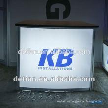 Mostrador de recepción de mármol artificial con encimera de superficies sólidas Mostrador de recepción de mármol con encimera de superficies sólidas