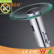 Badezimmer-einzelner Handgriff-Messingautomatischer Glashahn ohne Batterie (QH0109AP)