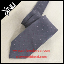 Hot Solid Silk Twill Gray Woven Men Custom Ties