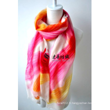 Châle imprimé en laine (12-BR020302-45)