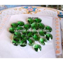 Lampwork Esferas de Cristal Verde Octagon