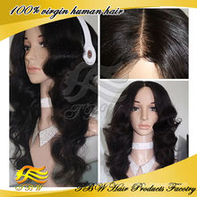 Online hot selling high quality middle part remy human hair wigs for sale