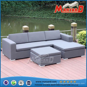Meubles extérieurs de sofa tapissés par loisirs de tissu