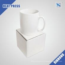 Venda por atacado fácil a custom design sublimação em branco caneca de ceramica branca