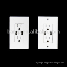 1 year warranty socket with usb port