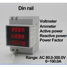 D52-2048 AC200-450V AC0-100.0A LCD Digitial multímetro voltímetro amperímetro