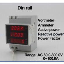 DIN Rail LED Display Voltmeter Ammeter