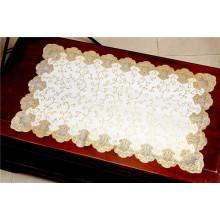 Gold PVC Spitze Tischset für Zuhause / Party / Hochzeit verwenden