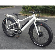 Motorlife /OEM 2017 new 26 inch suspension fat tire electric mountain bike 500W Bafang moto and LG battery 48v/14.5A ebike