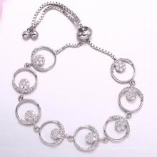 Imité diamant bracelet de tennis style élégant cadeau pour mariage fiançailles anniversaire bijoux dubai pour fille