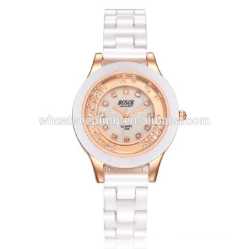 Yiwu fornecedor simples cerâmica senhoras atacado relógio de pulso