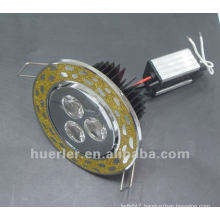 Gold round led downlight 3*1w