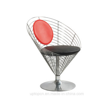 Verner Panton Wire Cone Glossy Metal Chair with Cushion (SP-MC014)