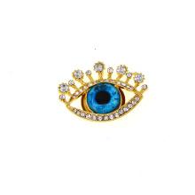 Superstarer Blue Eyes Large Gemstone Brooch Women Rhinestone Brooch Corsage Accessories