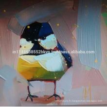 Résumé Peinture à l'huile d'oiseau